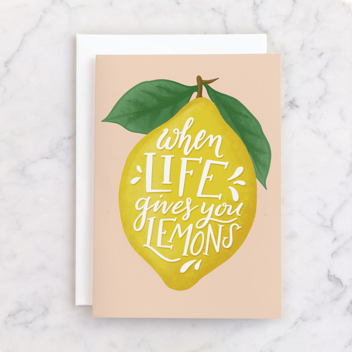 """""""Lemons"""" - Individual Just Because Greeting Cards in Lemon by Pink House Press."""