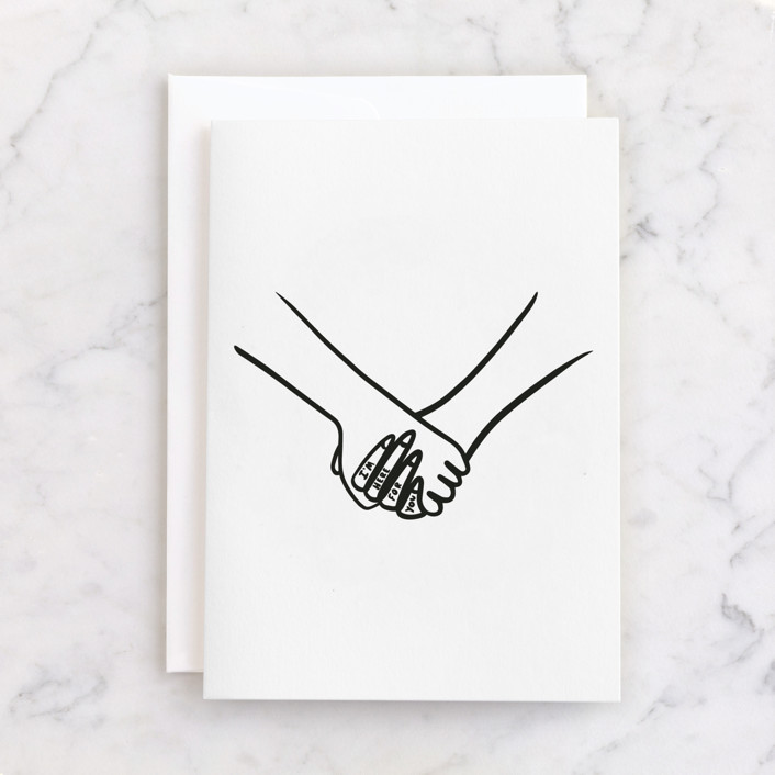 """I'm Here."" - Individual Just Because Greeting Cards in Ink by Erin Phipps."