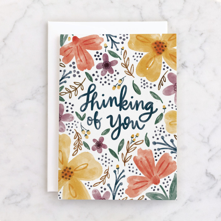 """""""Thinking of You"""" - Individual Just Because Greeting Cards in Rose by Noonday Design."""