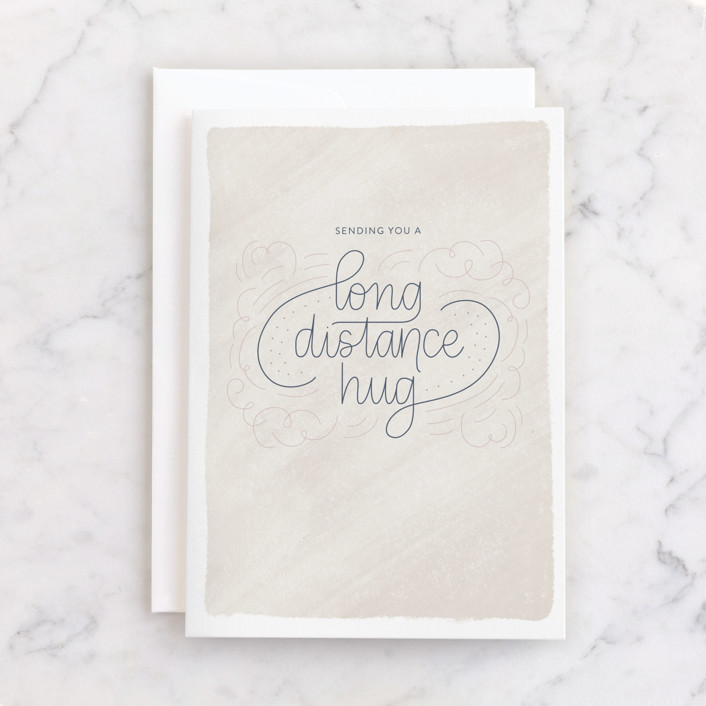 """""""Long Distance Hug"""" - Individual Just Because Greeting Cards in Latte by Carolyn Kach."""