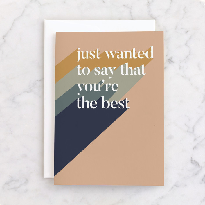 """""""You're the Best"""" - Individual Just Because Greeting Cards in Rust by Carolyn Kach."""
