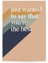 This is a orange friendship card by Carolyn Kach called You're the Best with standard printing on signature in greeting cards.