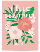 This is a pink friendship card by Vera Lim called Floral Happy Birthday with standard printing on signature in greeting cards.