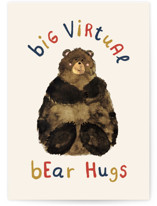 This is a beige friendship card by Belia Simm called Virtual Bear Hugs with standard printing on signature in greeting cards.