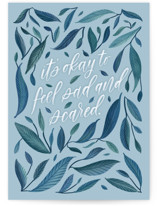 This is a blue friendship card by Carolyn Kach called It's Okay with standard printing on signature in greeting cards.