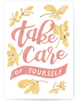 This is a pink friendship card by Lissabeth Anglin called Take Care with standard printing on signature in greeting cards.