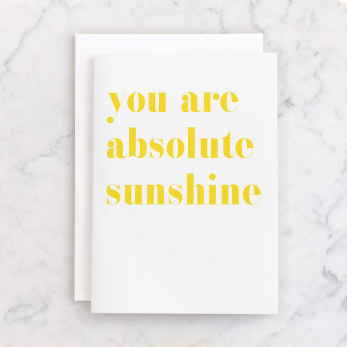 """""""Sunshine Friendship"""" - Individual Just Because Greeting Cards in Sunny by Minted."""