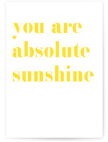 This is a yellow friendship card by Minted called Sunshine Friendship with standard printing on signature in greeting cards.