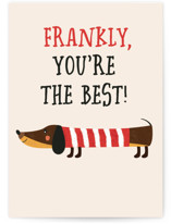 This is a beige friendship card by Erica Krystek called Frankly with standard printing on signature in greeting cards.