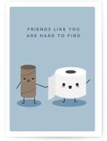 This is a blue friendship card by Caitlin Considine called Hard to find with standard printing on signature in greeting cards.