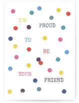 This is a blue friendship card by Marie Mind the Gap called I'm proud to be your friend with standard printing on signature in greeting cards.