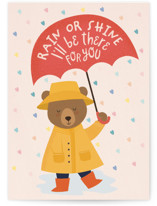 This is a red friendship card by Sabrin Deirani called I'll be there for you with standard printing on signature in greeting cards.