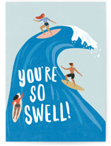 This is a blue friendship card by Karidy Walker called surf swell with standard printing on signature in greeting cards.