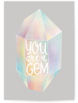This is a grey greeting card by Monika Drachal called A Gem with standard printing on signature in greeting cards.