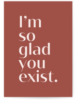 This is a red friendship card by JoAnn Jinks called exist with standard printing on signature in greeting cards.
