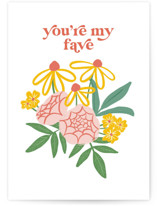 This is a colorful greeting card by Jennifer A. Smith called You're My Fave with standard printing on signature in greeting cards.