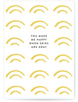 This is a yellow friendship card by seulghi called You Are My Sunshine with standard printing on signature in greeting cards.