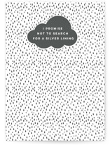 This is a white friendship card by Jessie Steury called Standing in the Rain with standard printing on signature in greeting cards.
