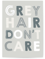 This is a grey friendship card by Baumbirdy called Grey Hair with standard printing on signature in greeting cards.