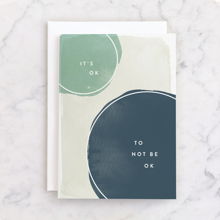 """""""Not Ok"""" - Individual Just Because Greeting Cards in Ocean by Robert and Stella."""