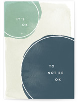 This is a green friendship card by Robert and Stella called Not Ok with standard printing on signature in greeting cards.