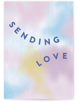 This is a purple friendship card by Katie Zimpel called Rainbow Haze with standard printing on signature in greeting cards.