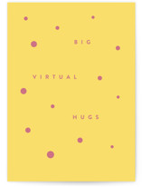 This is a yellow friendship card by Haley Warner called Big Virtual Hug with standard printing on signature in greeting cards.