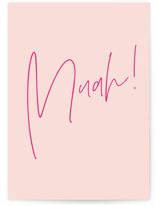 This is a pink friendship card by Ana Sharpe called Muah! with standard printing on signature in greeting cards.