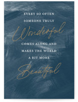 This is a blue friendship card by Stacey Meacham called Truly Wonderful with standard printing on signature in greeting cards.