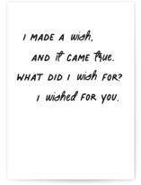 This is a white friendship card by Caitlin Considine called Made a wish with standard printing on signature in greeting cards.
