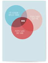 This is a blue friendship card by Celeste Duffy called Favorite Human Venn Diagram with standard printing on signature in greeting cards.