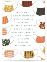 This is a green friendship card by Katharine Watson called Let's Face It with standard printing on signature in greeting cards.