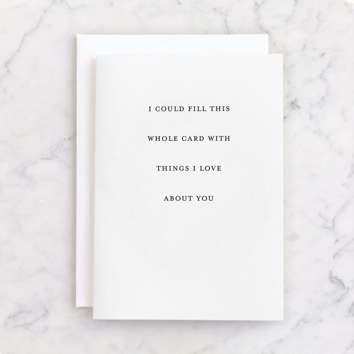 """""""Fill This Card"""" - Individual Just Because Greeting Cards in Pearl by Up Up Creative."""