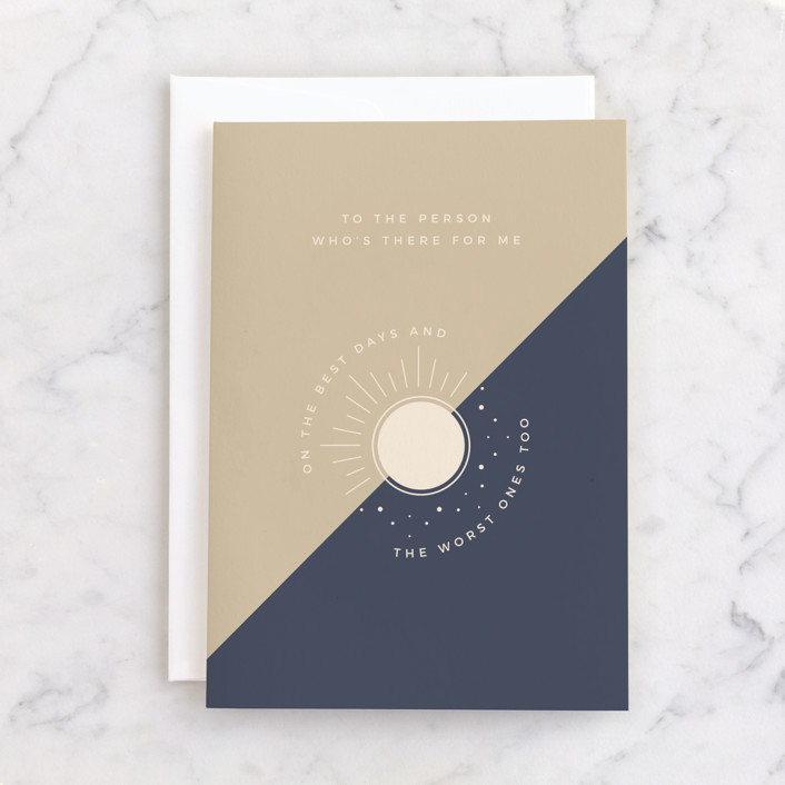 """""""Friend Like You"""" - Individual Just Because Greeting Cards in Navy by Carolyn Kach."""