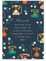 This is a blue friendship card by Jamie Alexander called A phone call away with standard printing on signature in greeting cards.