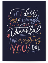 This is a blue friendship card by Kristen Smith called thankful for everything with standard printing on signature in greeting cards.