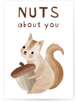 This is a brown friendship card by Vivian Yiwing called Nuts with standard printing on signature in greeting cards.