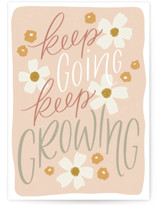 This is a pink friendship card by Erin German called Keep Going, Keep Growing with standard printing on signature in greeting cards.