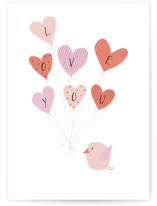 This is a white friendship card by Kanika Mathur called Love Balloons with standard printing on signature in greeting cards.