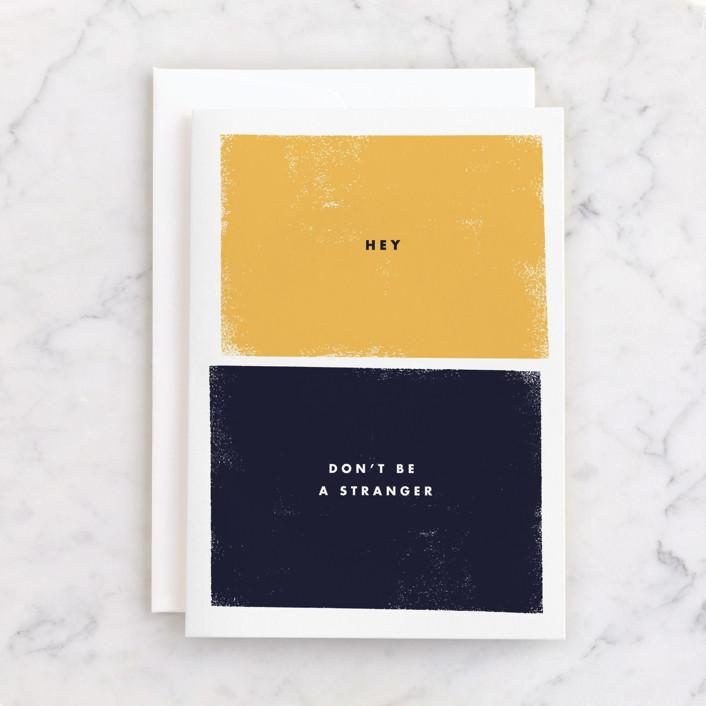 """stranger"" - Individual Just Because Greeting Cards in Navy by Sumak Studio."