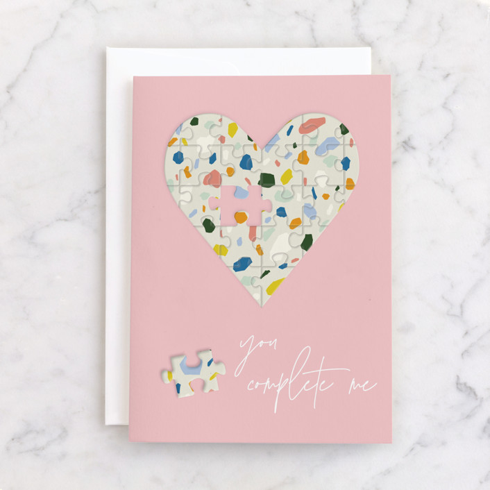"""""""you complete me"""" - Individual Just Because Greeting Cards in Cotton Candy by Yaling Hou Suzuki."""