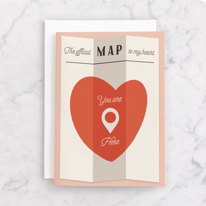 """""""You are Here"""" - Individual Just Because Greeting Cards in Candy by Gwen Bedat."""