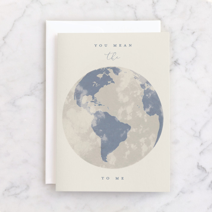 """""""You Mean the World"""" - Individual Just Because Greeting Cards in Honeysuckle Vine by Gwen Bedat."""
