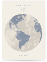 This is a beige friendship card by Gwen Bedat called You Mean the World with standard printing on signature in greeting cards.