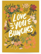 This is a colorful friendship card by Shiny Penny Studio called Love You Bunches with standard printing on signature in greeting cards.