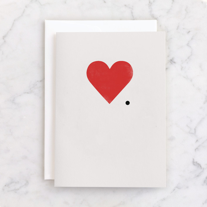"""""""I mean it."""" - Individual Just Because Greeting Cards in Snow by Sumak Studio."""