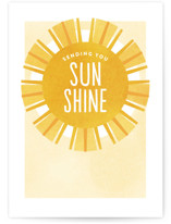 This is a yellow friendship card by Jen Banks of Ink and Letter called Sunshine with standard printing on signature in greeting cards.