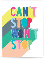 This is a colorful birthday cards for kid by Katy Clemmans called Cant Stop with standard printing on signature in greeting cards.