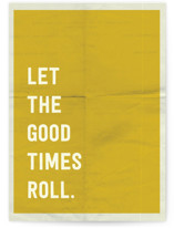 This is a yellow birthday cards for kid by Morgan Kendall called Let the Good Times Roll with standard printing on signature in greeting cards.