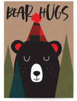 This is a brown birthday cards for kid by Susan Brown called Bear Hugs with standard printing on signature in greeting cards.